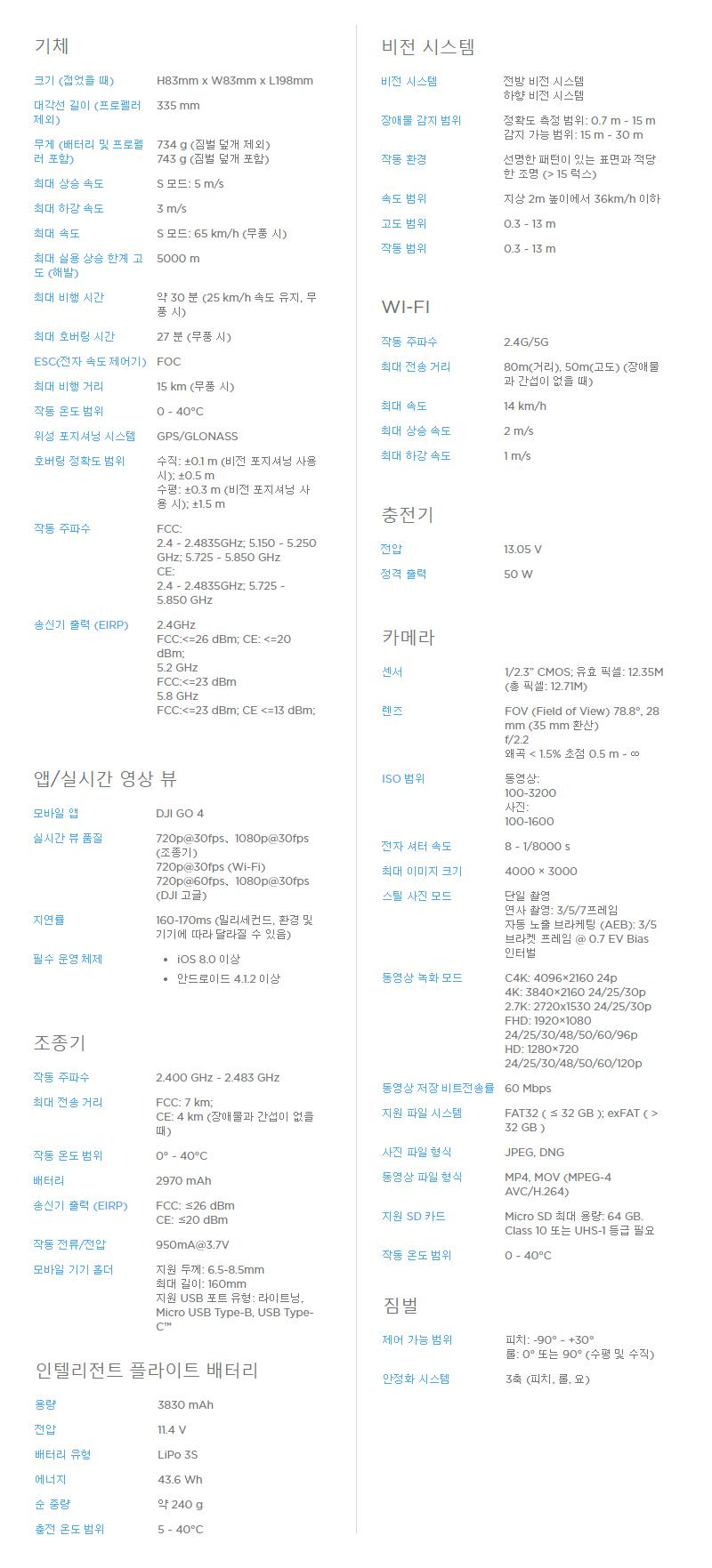 매빅 플래티넘, mavic platinum, 매빅 신제품, dji, 제이씨현시스템